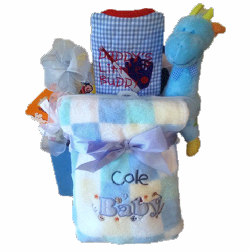 Baby gift basket personalize