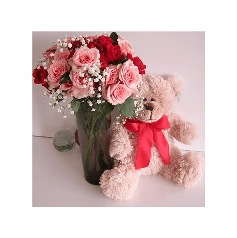 Bear and Flowers Baby Gift