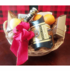 Christmas Fruits and Gourmet Basket
