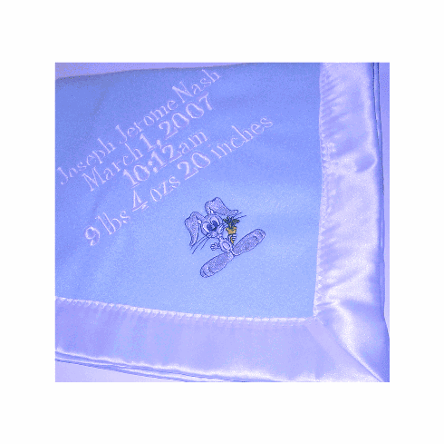 Designer Baby Announcement Blanket