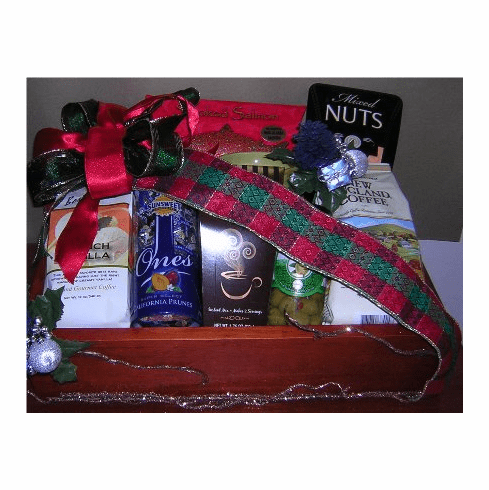 Happy Holiday Gourmet food Gift Basket