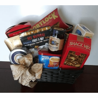 KJ Gourmet Basket with Maxwell House Coffee and mix Nuts