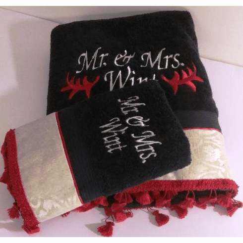 Mr. and Mrs Towel set