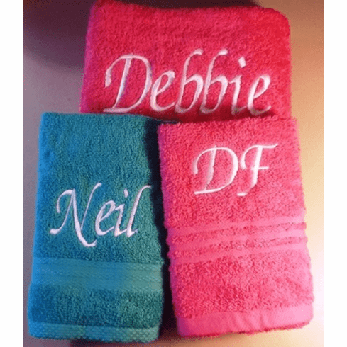 Personalize Name Towels