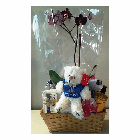 Spa Basket With MOM Personalize Bear