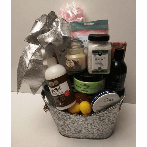 Spa Gift Basket For Her with essential body products
