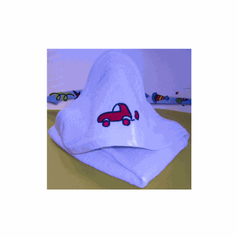 Terry Embroidery Hooded Towel