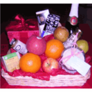 Valentine Day Fruit Basket