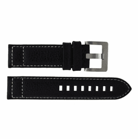 22mm Crush Calf Stitch Leather Strap SS or PVD Buckle