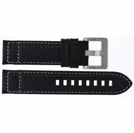 22mm Pilots Leather Strap with SS Buckle