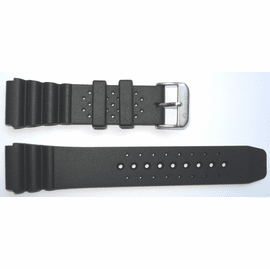 "22mm Silicon Dive Strap ""Deep Blue"" Logo on buckle"
