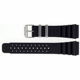 24mm Italian Rubber Strap Vent Diver Design Stainless Keepers
