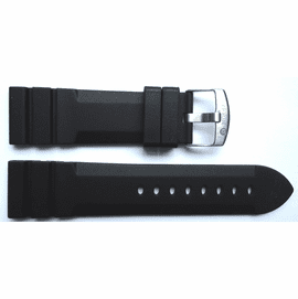 """24mm silicon Dive Strap """"Deep Blue """"Logo on buckle"""