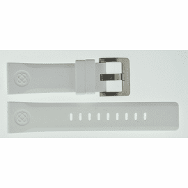 24mm Soft Silicon Strap WHITE