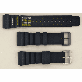 24mm Vent Rubber strap ND LIMITS Black SS or PVD