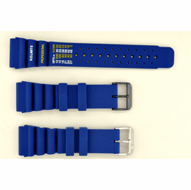 24mm Vent Rubber strap ND LIMITS Blue SS or PVD