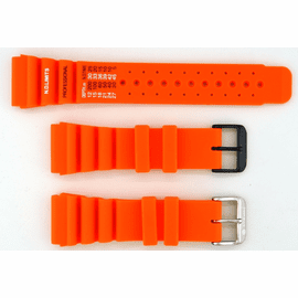 24mm Vent Rubber strap ND LIMITS Orange SS or PVD
