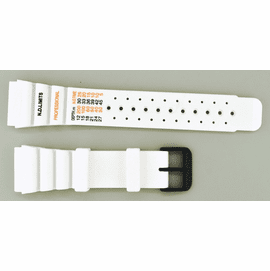 24mm Vent Rubber strap ND LIMITS White SS/ PVD