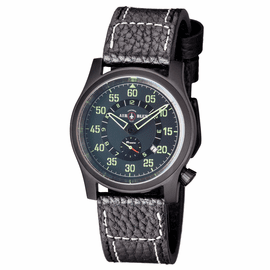 AIR BLUE �PAPA� PRAESTO  PILOT WATCH PVD -CHARCOAL DIAL