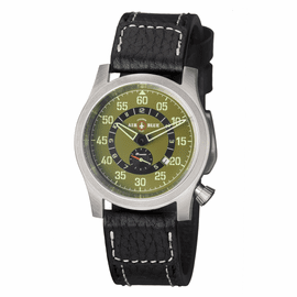 AIR BLUE PAPA PRAESTO  PILOT WATCH SS- GREEN DIAL