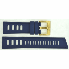 BLUE HYDRO 91 NATURAL RUBBER STRAP 24/22 BRASS BUCKLE