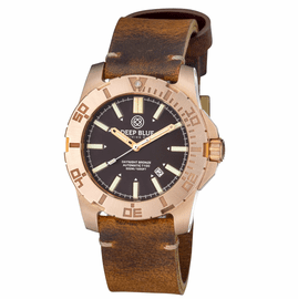 BRONZE CuSn6 DAYNIGHT TRITIUM T-100 AUTOMATIC DIVER BROWN