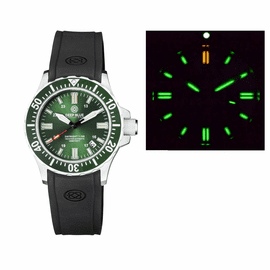 DAYNIGHT 41 TRITDIVER T-100 TRITIUM TUBES AUTOMATIC GREEN BEZEL - GREEN DIAL