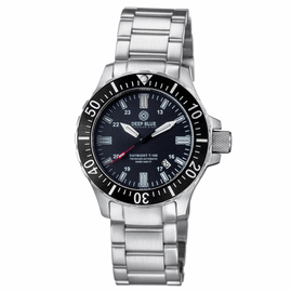 DAYNIGHT 45  TRITDIVER T-100 AUTOMATIC BLACK BEZEL- BLACK DIAL