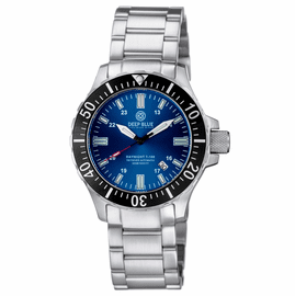 DAYNIGHT 45  TRITDIVER T-100 AUTOMATIC BLACK BEZEL- DARK BLUE DIAL