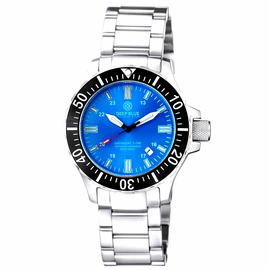 DAYNIGHT 45  TRITDIVER T-100 AUTOMATIC BLACK BEZEL- LIGHT BLUE DIAL
