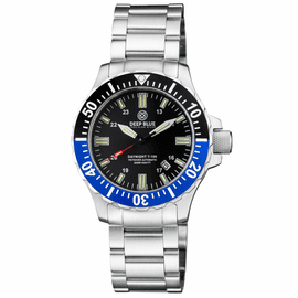 DAYNIGHT 45 TRITDIVER T-100 AUTOMATIC BLACK/BLUE BEZEL- BLACK DIAL