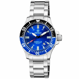 DAYNIGHT 45  TRITDIVER T-100 AUTOMATIC BLACK/BLUE BEZEL- DARK BLUE DIAL