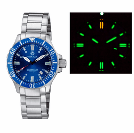DAYNIGHT 45 TRITDIVER T-100 AUTOMATIC BLUE BEZEL – DARK BLUE DIAL