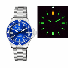 DAYNIGHT 45 TRITDIVER T-100 AUTOMATIC BLUE BEZEL � DARK BLUE DIAL