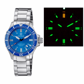 DAYNIGHT 45 TRITDIVER T-100 AUTOMATIC BLUE BEZEL – LIGHT BLUE DIAL