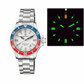 DAYNIGHT 45 TRITDIVER T-100 AUTOMATIC BLUE/RED BEZEL- WHITE DIAL