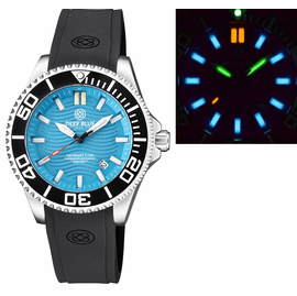 DAYNIGHT COMMANDER T-100 AUTOMATIC BLACK BEZEL - ICE BLUE DIAL STRAP
