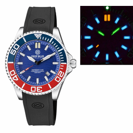 DAYNIGHT COMMANDER T-100 AUTOMATIC BLUE/RED BEZEL - BLUE DIAL STRAP