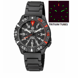 DAYNIGHT DIVER PC TRITIUM WATCH BLACK/RED BEZEL - BLACK DIAL BRACELET