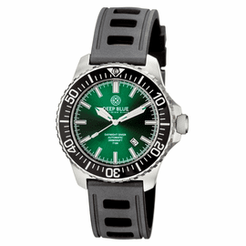 DAYNIGHT  DIVER T-100  AUTOMATIC – SS BLACK/GREEN  DIVER WITH HYDRO 91 RUBBER STRAP