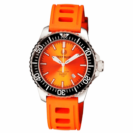 DAYNIGHT  DIVER T-100  AUTOMATIC – SS ORANGE DIVER WITH HYDRO 91 RUBBER STRAP
