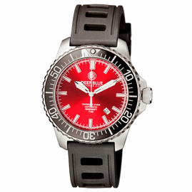 DAYNIGHT  DIVER T-100  AUTOMATIC – SS RED DIVER WITH HYDRO 91 RUBBER STRAP