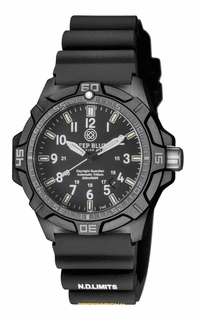 DAYNIGHT GUARDIAN AUTOMATIC TRITIUM POLY CARBON CASE BLACK/GREY  BEZEL – YELLOW / BLUE TUBES