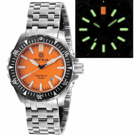 DAYNIGHT MIL T100  TRITIUM GREEN FLAT TUBES- ORANGE DIAL BRACELET
