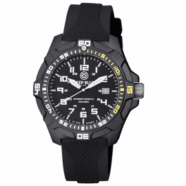 DAYNIGHT PC TRITIUM DIVER WATCH  BLACK/ 1/4 YELLOW