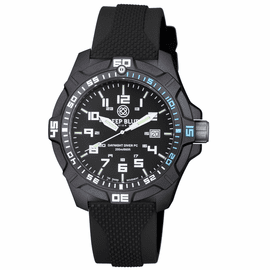 DAYNIGHT PC TRITIUM DIVER WATCH  BLACK/BLUE