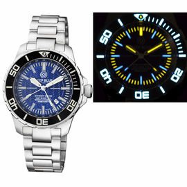 DAYNIGHT RECON GMT 2893 SWISS AUTOMATIC TRITIUM T-100 DARK BLUE DIAL