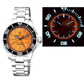 DAYNIGHT RECON GMT 2893 SWISS AUTOMATIC TRITIUM T-100 ORANGE DIAL