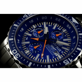 DAYNIGHT T-100 GMT AUTO CHRONOGRAPH   -SWISS MADE BLUE