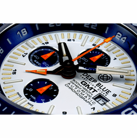 DAYNIGHT T-100 GMT AUTO CHRONOGRAPH -SWISS MADE WHITE/BLUE